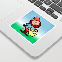Gnome in the garden Sticker