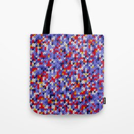 Knitted multicolor pattern 2 Tote Bag