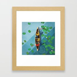 Paddling Through the lily pads Framed Art Print