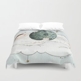 monstre à l'oeuf Duvet Cover