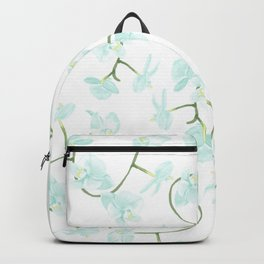 How delicate the orchid's eternal bloom Backpack