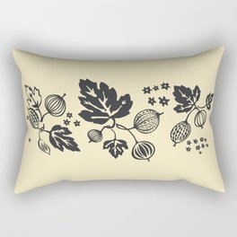 Black Gooseberry Stack Rectangular Pillow