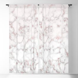 rose gold marble Blackout Curtain