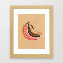 5 bananas Framed Art Print