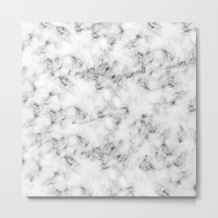 Real Marble Metal Print