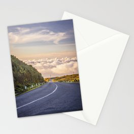 Empty road on Madeira island, Portugal Stationery Cards