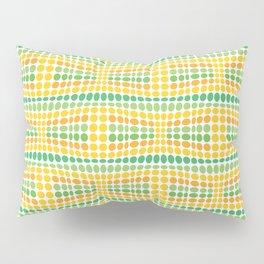 Dottywave - Green Yellow wave dots pattern Pillow Sham