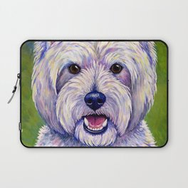 Colorful West Highland White Terrier Dog Laptop Sleeve