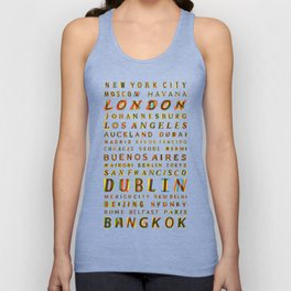 Travel World Cities Unisex Tank Top