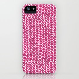 Hand Knit Hot Pink iPhone Case