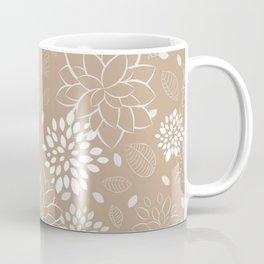 Flowers and Leaves Pattern Coffee Mug