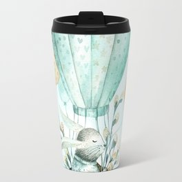 Cute Easter Bunny Hot Balloon Travel Mug