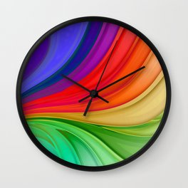 Abstract Rainbow Background Wall Clock