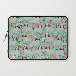Dachshund florals - shaded cream doxie design cute floral dogs dachshunds cute dog best doxies Laptop Sleeve