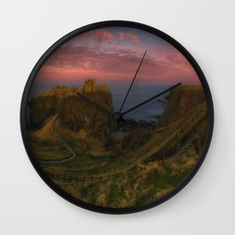 Fort On The Shelving Slope Wall Clock