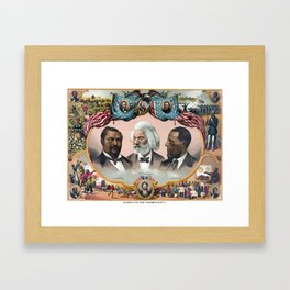 Heroes Of The Colored Race Framed Art Print