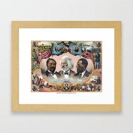 Heroes Of African American History - 1881 Framed Art Print