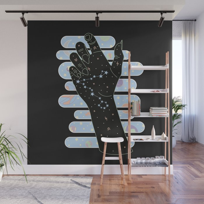 Pisces Illustration Wall Mural
