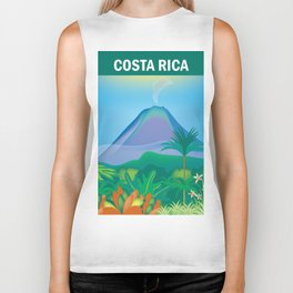 Costa Rica - Skyline Illustration by Loose Petals Biker Tank