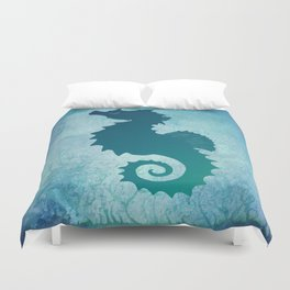 Seahorse of a Different Color ~ Marine Life ~ (Copyright 2015) Duvet Cover