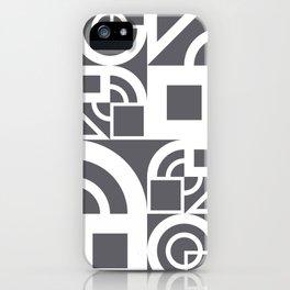 Bauhaus 39 Grey&White ed. iPhone Case