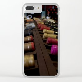 Wine Bottles Clear iPhone Case