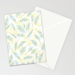 Wind and feathers Stationery Cards