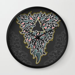 triangle flowing Wall Clock