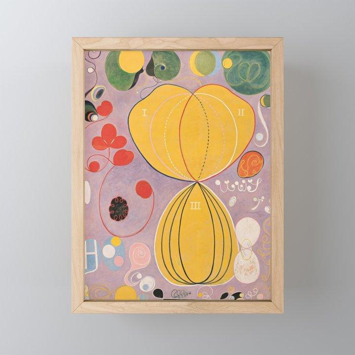 Hilma af Klint Modern Abstract Painting Framed Mini Art Print