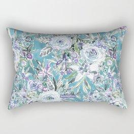MAUI MINDSET Mystic Aqua Floral Rectangular Pillow