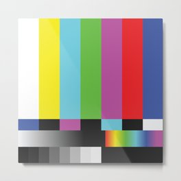 Colour Bars Metal Print