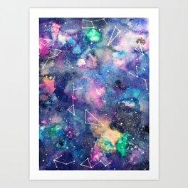 Cosmos Watercolor Art Print