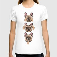 evil T-shirts featuring No Evil  Frenchie by Huebucket