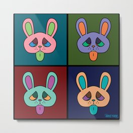 Blegh Rabbit Metal Print