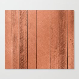 Rose gold antique wood Canvas Print