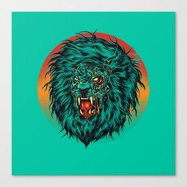Zombie Lion Canvas Print