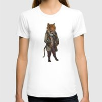 suits T-shirts featuring Animals in Suits - Sumatran Tiger by Katadd