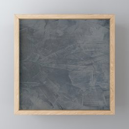 Slate Gray Stucco - Faux Finishes - Rustic Glam - Corbin Henry Venetian Plaster Framed Mini Art Print