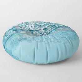 Turquoise Floor Pillow