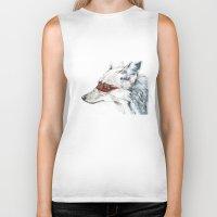 coyote Biker Tanks featuring Coyote I by Susana Miranda ilustración