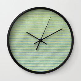 Green Lines - Acessórios e Moda Cor Sólida Wall Clock