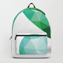 Teal Broken Heart Backpack