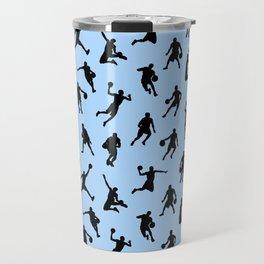 Basketball Players // Light Blue Travel Mug