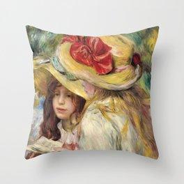 """Auguste Renoir """"Les deux soeurs"""" Throw Pillow"""