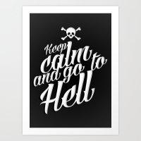 Keep Calm and Go to... Art Print