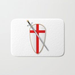 Crusaders Shield and Sword Bath Mat