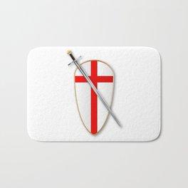 Crusaders Shield and Sword Bath Mat