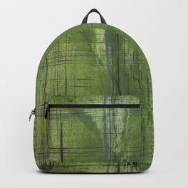 Green striped Backpack