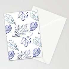 Leaves (navy) Stationery Cards