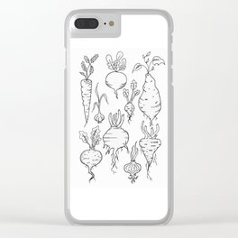 Root Vegetable Study Illustration Clear iPhone Case